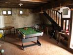 Pool table in cellar