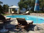 Aerides pool with open sea view
