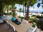 Terrace with stunning seaviews over the Mediterranean