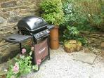 Dairy Cottage's Gas BBQ in the private garden outside the cottage