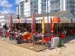 Restaurant near beach