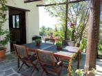 Shady Outdoor Dining Area