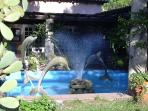 The dolphins  welcome you at the residence entrance