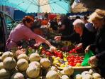 Market day in nearby Aulnay