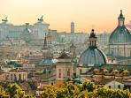 Roma the Eternal city. Get to the centre by train: just 1h35' at €14 return ticket bus &am