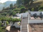 steps to the roof terrace with panoramic views