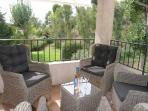 6 chairs and lounge furniture on the private terrace