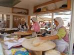 Pancakes at the market