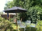 Parasol in the lovely Garden. BBQ provided