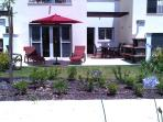 BBQ Area, the out door dining area is south facing, ideal for a relaxing lunch or evening BBQ.
