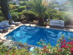 View from Roof Terrace down to Pool