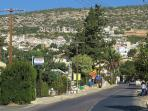 The centre of the village of Peyia is only 1.3km from the apartment at Peyia Paradise