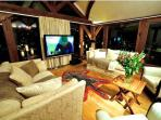 Relax into a cosy haven of luxury in the evening, whilst watching the 65inch TV