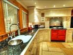 Well equipped kitchen, try out your culinary skills on the aga cooker.