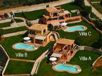 Villas A, B and C are ideal for groups of 24-26 guests