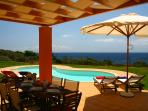 Villa A_Pergola & pool area