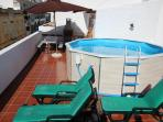 Private Pool on the Terrace w Sun Loungers for 8 People