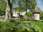 Spring at Château de Lamostonie