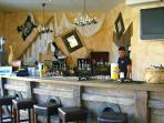 Caribbean bar.