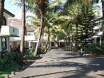 Private driveway in community