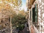 balconies on the street