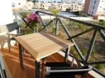 balcony with outside table