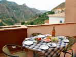 Lunch on the Terrace amid spectacular mountains