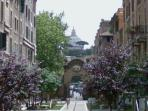 BEUTIFUL VIEW OF ST.PETER FROM OUR COURTYARD! Via Pomponazzi