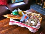 A welcome basket of local specialities awaits your arrival