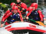 White water rafting at the National Water Sport Centre at Bala