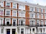 Street view, Maclise Road is a quiet residential street in this upmarket area