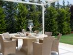 outdoors dining table