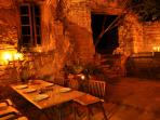 Candlelight dinner on the terrace