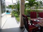 View into the tropical garden.