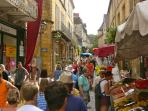 Sarlat Saturday morning market