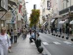 Shopping - Rue d'Antibes - just a few minutes away!