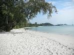 Nice sandy beach with shallow sea