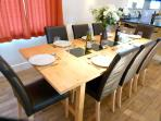 Dining table seats 8 (or 10 with extension)