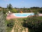 Villa. The pool