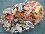 Breton Fruits de Mer, a beautiful platter of fresh Seafood