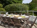 ... and enjoy al fresco on the decking or garden.