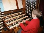THE MINSTER ORGAN (AND A VERY JUNIOR ORGANIST...)