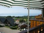 The view of Lake Geneva from the balcony