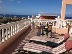 View from main terrace, over looking Torviscas and the sea, perfect for breakfast with the sunrise a