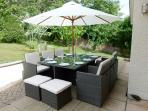 Outdoor dining for 10 on the patio