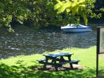Your seat by the river for the morning Cuppa