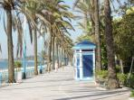 Paseo Maritimo walkway to Marbella and Puerto Banus, 10 minutes walk from the house
