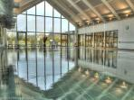 A swim with a view – all round panoramic glazing & double height aspect. Simply stunning!