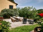 External view of Villa Viola and external dining area