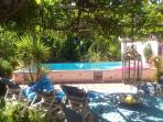 El Apartamento - swimming pool terrace  (shared only with Casa Pequeña travellers)